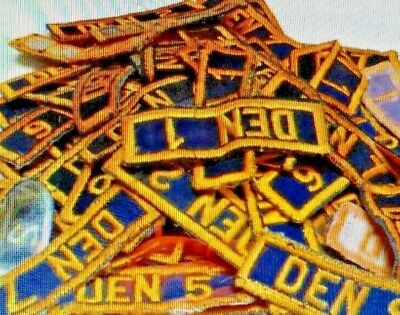 Cub Scouts Den Number Uniform Patches (Pre-Owned) - Your Choice A01081~97
