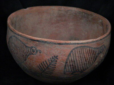 Ancient Large Size Teracota Painted Pot With Birds Indus Valley 2500 BC #PT15576