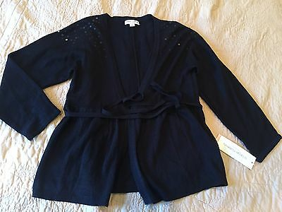 New Liz Lange maternity black sweater cardigan small sequin target very cute!