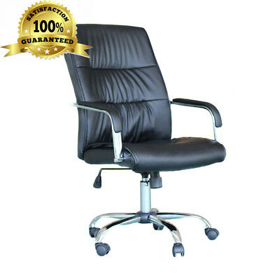 EBS Office Executive Swivel Computer Desk Chair PU Leather High Furniture -...