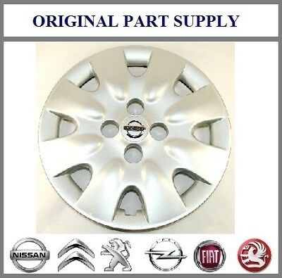 "Nissan Genuine Micra K12 Car 14"" Wheel Trim Hub Cap Cover - Silver 40315AX600"