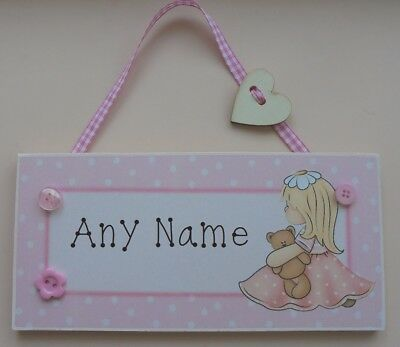 NAME PLAQUE PERSONALISED DOOR SIGN ZAM BEE ZEE FREE P/&P