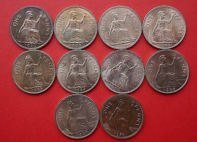 Pennies - 1953 to 1970 - all BU - Unc or Proof -  choose your date