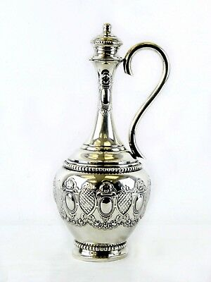 Portugal 833 Sterling Silver Wine Decanter w/ Handle & Stopper 20.10 TROY OUNCES