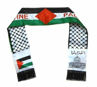Palestine flag scarf, Jerusalem, Neck Fashion Arabian Scarf Shawl Wrap, 2 sides