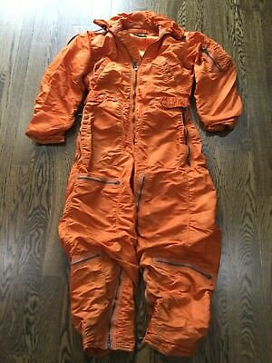 Olive Hill '60 USAF Military Men's Orange Flying Suit Coverall Small CWU-1P