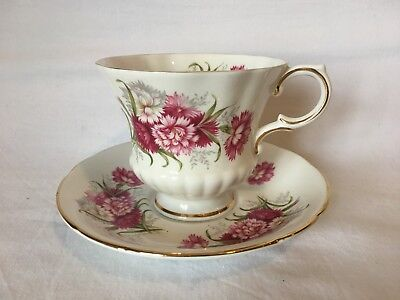 Paragon Fine Bone China Flower Festival Tea Cup and Saucer