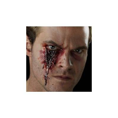 Prosthetic Horror Zip Scar Wound Halloween Fancy Dress Make Up