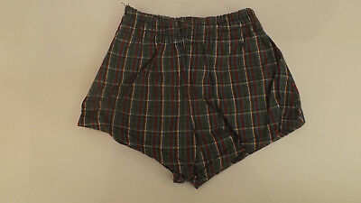 CUTE Vtg NOS Boys sz Lrg 6-8 Plaid Swimsuit Bathing Suit Swim mWear