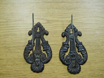 Antique Pair of Victorian Cast Iron Curtain Tie Backs 1837-1901 Good Condition
