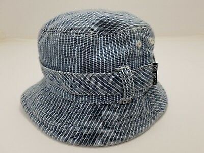 Vintage Children's OshKosh B'Gosh Striped Bucket Hat Osh Kosh USA 12 - 24 Months