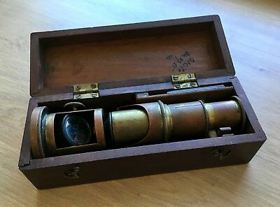 ✩ Antique MICROSCOPE with BOX