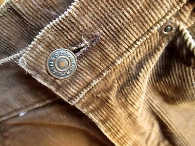 27x29 true Vtg 70s Boys CHOCOLATE BROWN CORDS BOOTCUT FLARE DENIM HIPPIE JEANS