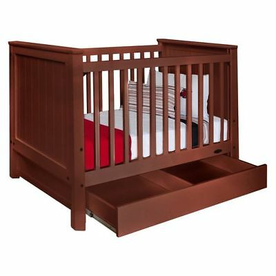 NEW Touchwood Metro Panelled Cot with Drawer in Brown