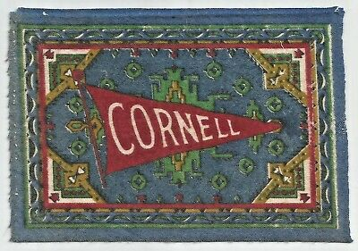Vintage CORNELL University Big Red Felt Tobacco Pennant Rug Ivy League  Antique d84bb8851f45