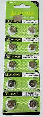 10 Pcs AG9 LR45 LR936 394 1.5V Alkaline Battery Watch Suncom