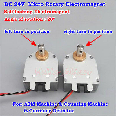 DC 24V Mini Electric magnet Rotating Self-locking Rotary Solenoid Electromagnet
