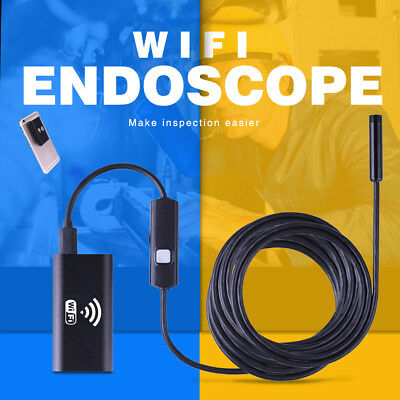 6 LED Wireless Endoscope WiFi Inspection HD 720P Snake Camera for Android iPhone