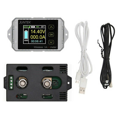 Wireless DC 0-400V 0-300A Voltage Current Watt Power Capacity LCD Combo Meter