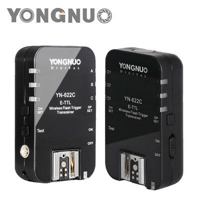 Yongnuo YN-622C Wireless E-TTL Flash Trigger for Canon 5D III 60D 600D 650D 7D
