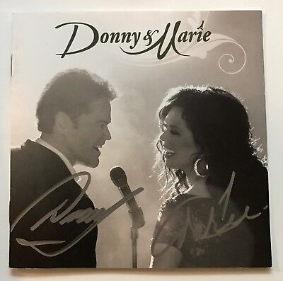 Donny and Marie Osmond Signed Autograph CD Signature Rare