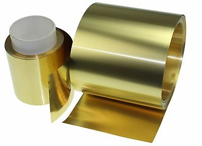 Select Thick 0.01mm - 0.6mm Brass Sheet Strip Foil Blank Plate Block 100 200mm