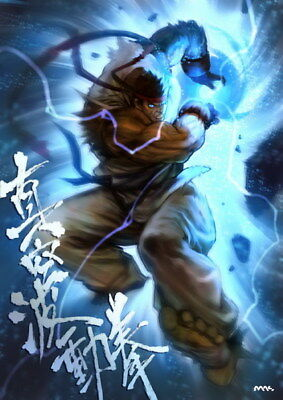 "030 Street Fighter - Fight Ryu Guile Ken ChunLi Game 24""x33"" Poster"