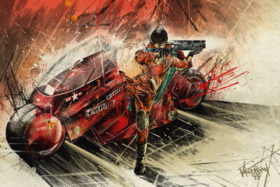 "033 Akira - Red Fighting Hot Japan Anime 36""x24"" Poster"