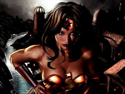 """034 Wonder Woman - Sexy Girl Justice League USA Hero 32""""x24"""" Poster"""
