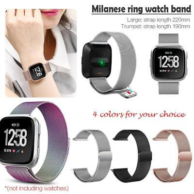 Milanese Loop Magnetic Stainless Band Strap For Fitbit Versa Wrist Smart Watch