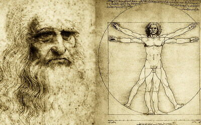 "037 Blueprint - Da Vinci Notebook 38""x24"" Poster"