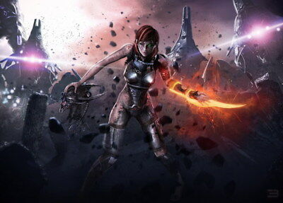 """037 Mass Effect 4 - ME Killer Fighting Shooting Hot TV Game 33""""x24"""" Poster"""