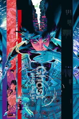 "037 Ghost In The Shell - Fight Riot Police Anime Hot Movie 24""x36"" Poster"