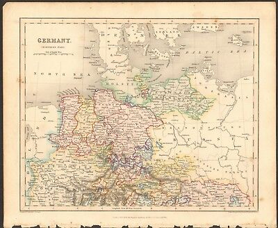 1840 ca ANTIQUE MAP - GERMANY NORTHERN PART