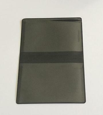 5 Black Vinyl Business Card Wallets With 2 Clear Pockets Credit Debit Gift Id