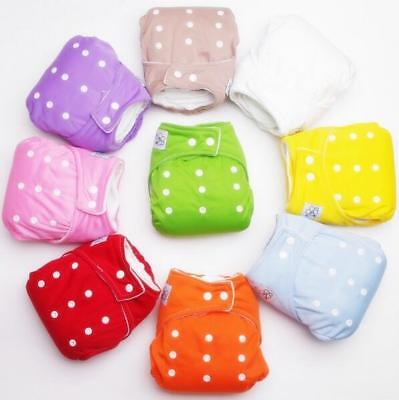 Reusable Baby Nappies Diapers Cloth Inserts Adjustable Washable Pocket Newborn