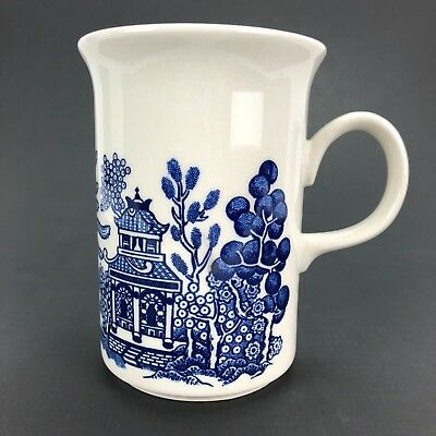 Churchill Vintage Blue Willow China Coffee Cup Mug Made In England 8 Oz 4 Inches