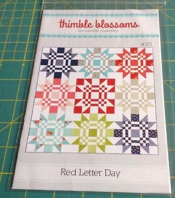 RED LETTER DAY - THIMBLE BLOSSOMS  By Camille Roskelly