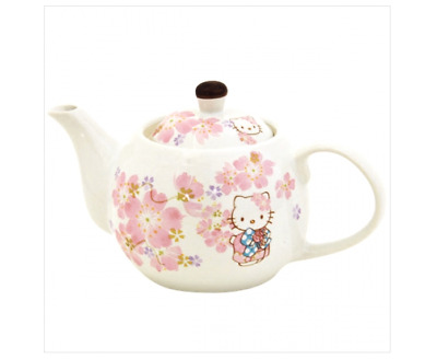Hello Kitty Sakura Cherry Blossoms Teapot Tea Pot MADE IN JAPAN