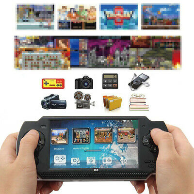 """2018 4.3"""" X6 Handheld Video Game Console 32 Bit Built-in 1000 Free Retro Games"""