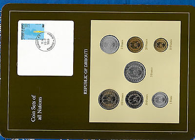 Coin Sets of All Nations Djibouti 1977 - 1986 UNC 50 Francs 1986 25.7.1989