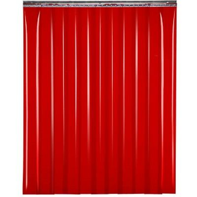 "NEW! TMI Welding Strip Door 6'W x 8'H - 8"" Red Tint PVC!!"