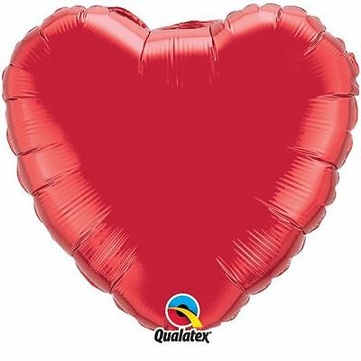"""Red Heart Shaped 18"""" Foil Balloon Valentines Decorations Wedding Love Engagement"""