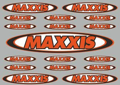 MAXXIS  Decals Stickers Vinyl Graphic Set Logo Motorcycle Adhesive Kit 17 Pcs