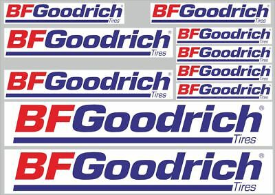 BF Goodrich Tire Decals Stickers Vinyl Graphic Set Logo  Adhesive Kit 10 Pcs