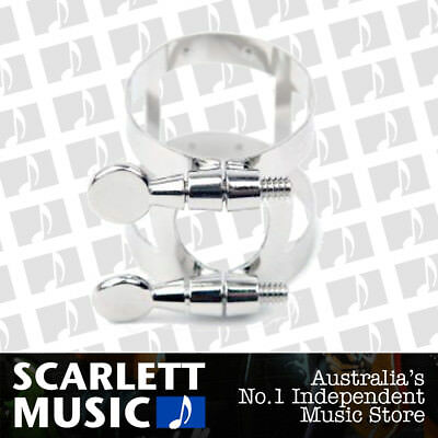 Rico - Bb Clarinet Ligature - Nickel Plated - For Plastic & Ebonite Mouthpieces