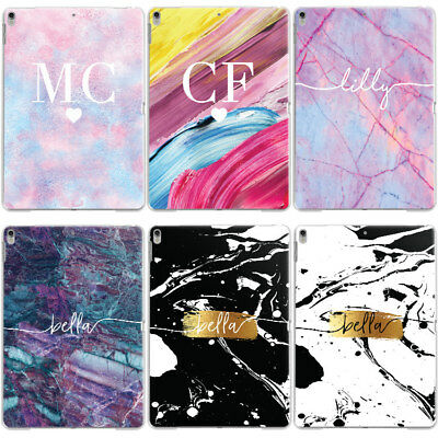 Personalised Cotton Candy Marble Name Initials Custom Case Cover For Apple Ipad