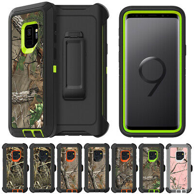 Samsung Galaxy S8 S9 Plus Note Camo Case Cover,Fit OTTERBOX DEFENDER SERIES Clip