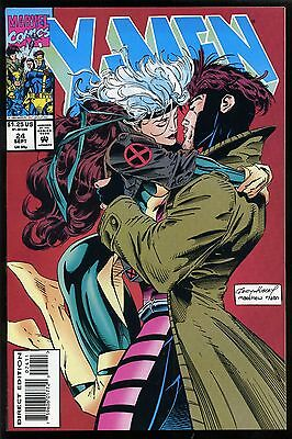 X-Men #24 1993 NM/MT 9.8 Gambit and Rogue Kiss cover Andy Kubert uncirculated