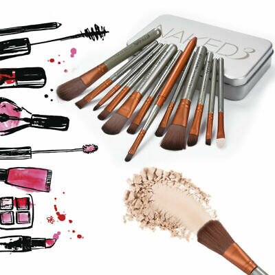 Professional 12 Pcs Makeup Brush Set Eyeshadow Eyebrow Powder Cosmetics Brushes